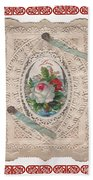 Lace And Roses Beach Towel