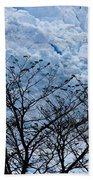 Lace On Blue Beach Towel