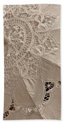 Lace Parasol In Sepia Beach Towel