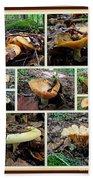 Lactarius Torminosus - Yellow Mushrooms Beach Towel