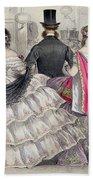 Ladies Wearing Crinolines At The Royal Italian Opera Beach Towel