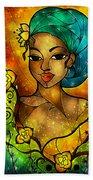 Lady Creole Beach Towel