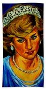 Lady Diana Portrait Beach Towel