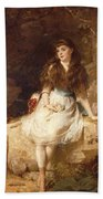 Lady Edith Amelia Ward Daughter Of The First Earl Of Dudley Beach Towel