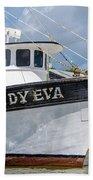 Lady Eva Shrimp Boat Beach Towel