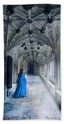 Lady In A Corridor Beach Towel
