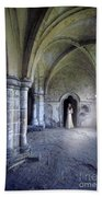Lady In Abbey Room With Doves Beach Towel