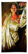 Lady Justice Sepia Beach Towel