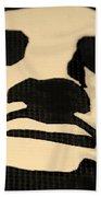 Lady Liberty In Dark Sepia Beach Towel
