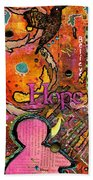 Lady Of Hope - A Breast Cancer Donation Beach Towel