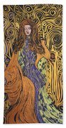 Lady Of Swirl Beach Towel