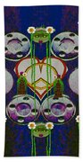 Lady Panda Welcomes Spring In Love And Light And Peace Beach Towel