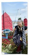 Lady Pirate And Friend Beach Towel