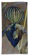 Lady Slipper Secret Garden Beach Towel