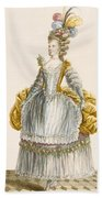Ladys Ball Gown, Engraved By Dupin Beach Towel