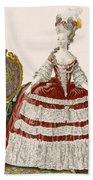 Ladys Court Gown In Dark Cherry Beach Towel