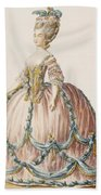 Ladys Gown For The Royal Court Beach Towel