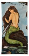Laguna Beach Mermaid Marina Beach Towel