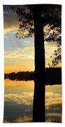 Lake At Sunrise Beach Towel