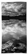 Lake Auburn Twilight Beach Towel