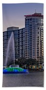 Lake Eola Water Fountain  Beach Towel