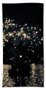 Lake Fireworks Beach Towel