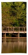 Lake Forest Bridge Beach Towel