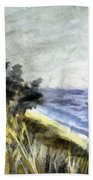 Lake From The Dunes Beach Towel