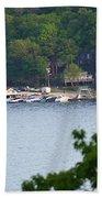 Lake Hopatcong Scene 4 Beach Towel