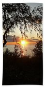 Lake Huron Setting Sun Beach Towel