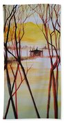 Lake In The Morning Beach Towel