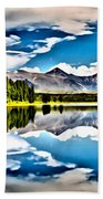 Lake In The Mountains Beach Towel