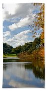 Lake Lancaster Beach Towel by Denise Mazzocco