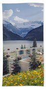1m3520-h-lake Louise Chateau Beach Towel