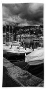 Lake Maggiore Bw 1 Beach Towel