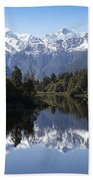 Lake Matheson New Zealand Beach Towel