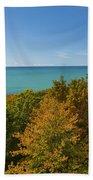 Lake Michigan Cut River 1 Beach Towel