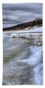 Lake Michigan Shelf Ice Beach Towel