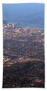 Lake Michigan Shoreline - Downtown Milwaukee  Beach Towel