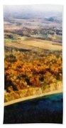 Lake Michigan Shoreline In Autumn Beach Towel