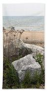 Lake Michigan Shoreline Beach Towel