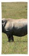 Lake Nakuru White Rhino Beach Towel