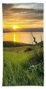 Lake Oahe Sunset Beach Towel