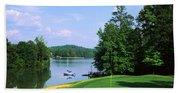Lake On A Golf Course, Legend Course Beach Towel