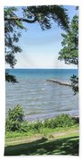 Lake Ontario At Webster Park Beach Towel