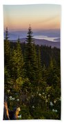 140701a-042 Lake Pend Oreille From The Cabinets Beach Towel