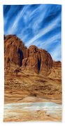 Lake Powell Rocks Beach Towel by Ayse Deniz
