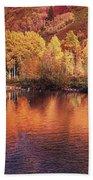 Lake Reflection In Fall 2 Beach Towel