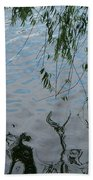 Lake Reflections Of Blue Beach Towel