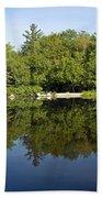 Lake Reflections Beach Towel